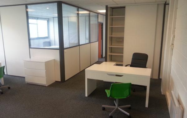 Bureau meublé  en open-space 10 m²